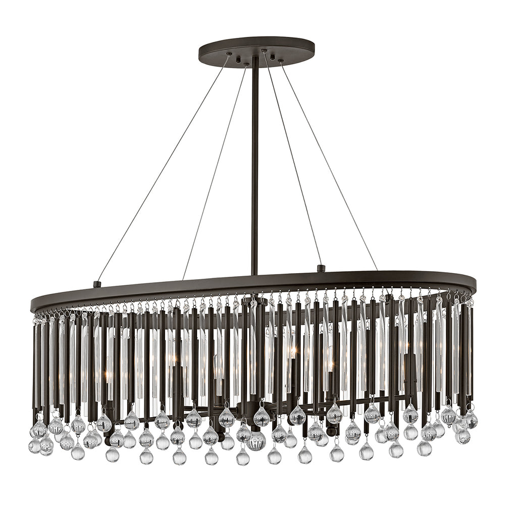 metal and crystal hanging ceiling light