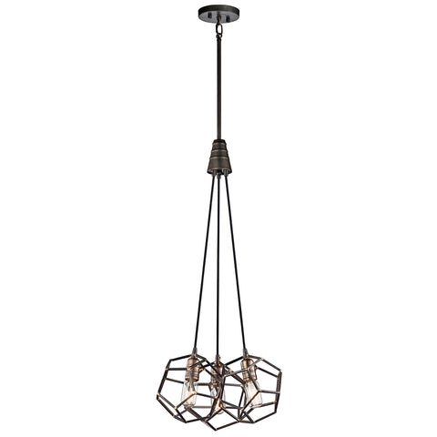 black and gold hanging ceiling light