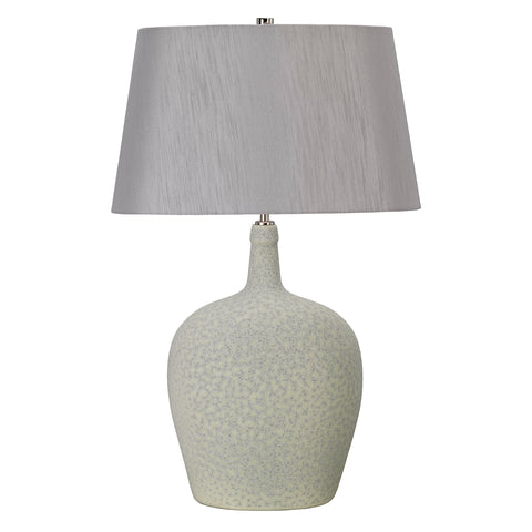 Elstead Lighting LAMBETH-TL Lambeth Single Light Table Lamp Complete With Silver Faux Silk Shade