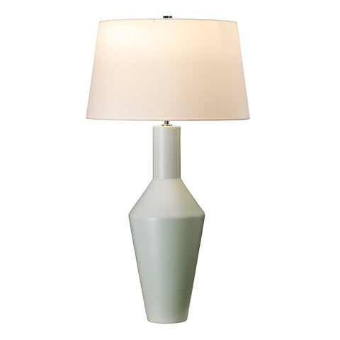 Elstead Lighting LEYTON-TL Leyton Single Light Table Lamp Complete With Ivory Polycotton Shade