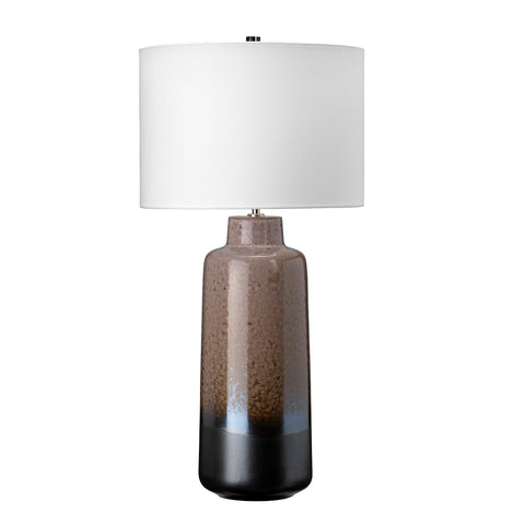 Elstead Lighting MARYLAND-TL Maryland Single Light Table Lamp Complete With White Faux Silk Shade