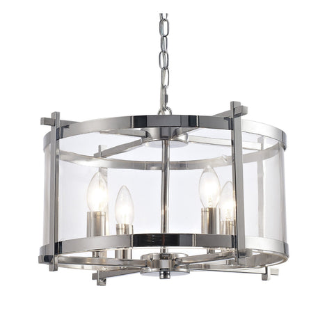Deco D0089 Nolan 4 Light Medium Ceiling Lantern Chrome Finish