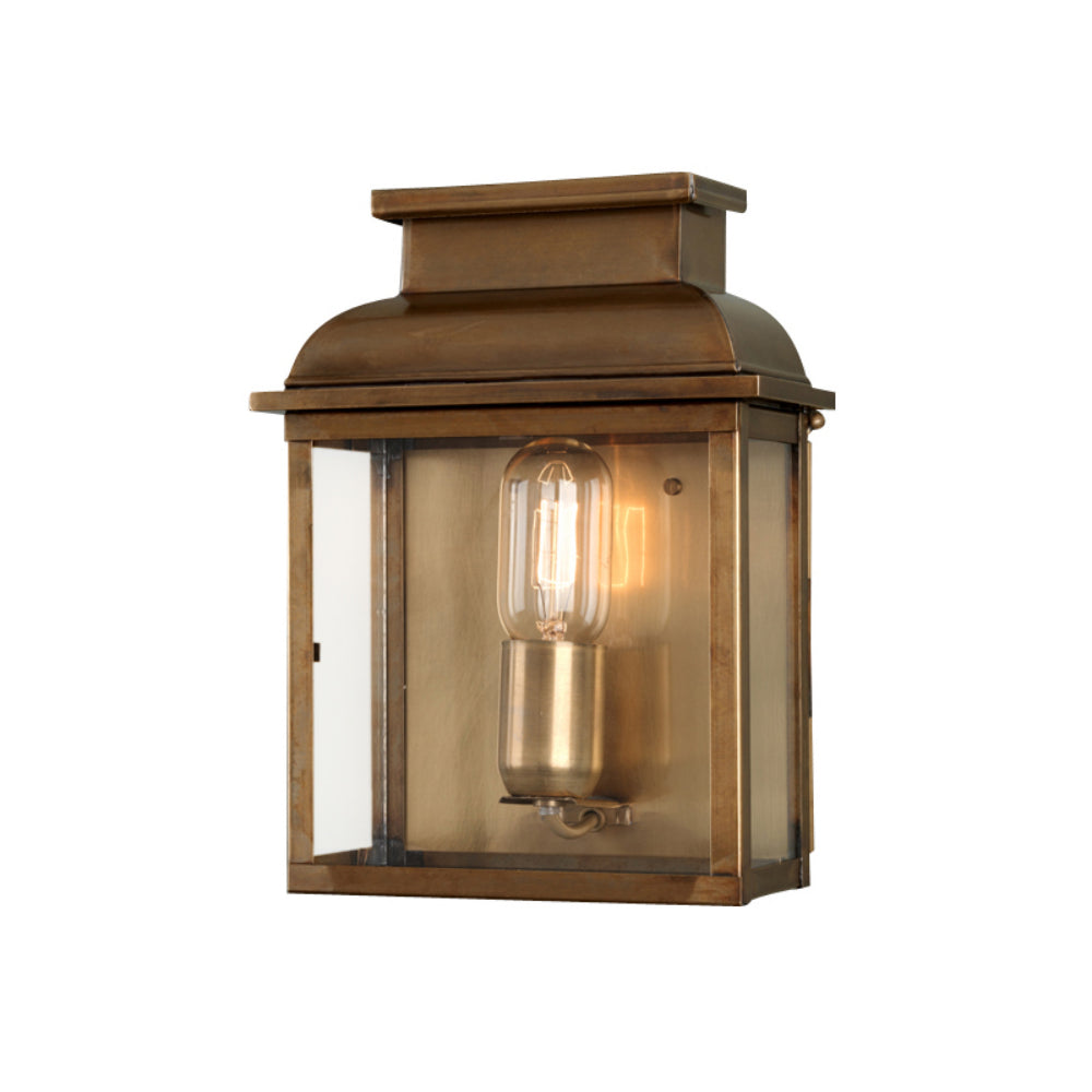 aged brass outdoor wall light
