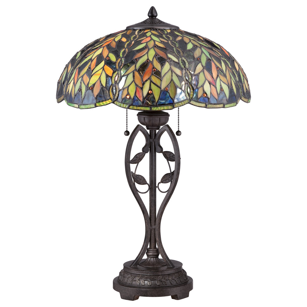 Elstead Lighting QZ/BELLE/TL Belle 2 Light Imperial Bronze Table Lamp