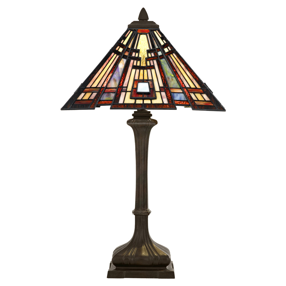 Elstead Lighting QZ/CLASSICCRF/TL Classic Craftsman 2 Light Valiant Bronze Table Lamp