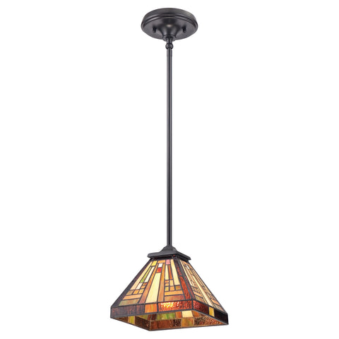 Stephen 3 Light Vintage Bronze Tiffany Pendant Ceiling Light