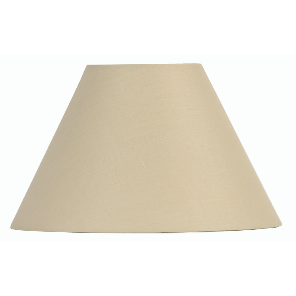 Oaks Lighting S501/12BE 12 Inch Beige Cotton Coolie Shade