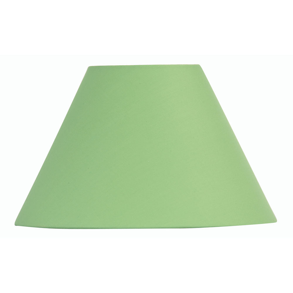 Oaks Lighting S501/12GR 12 Inch Green Cotton Coolie Shade