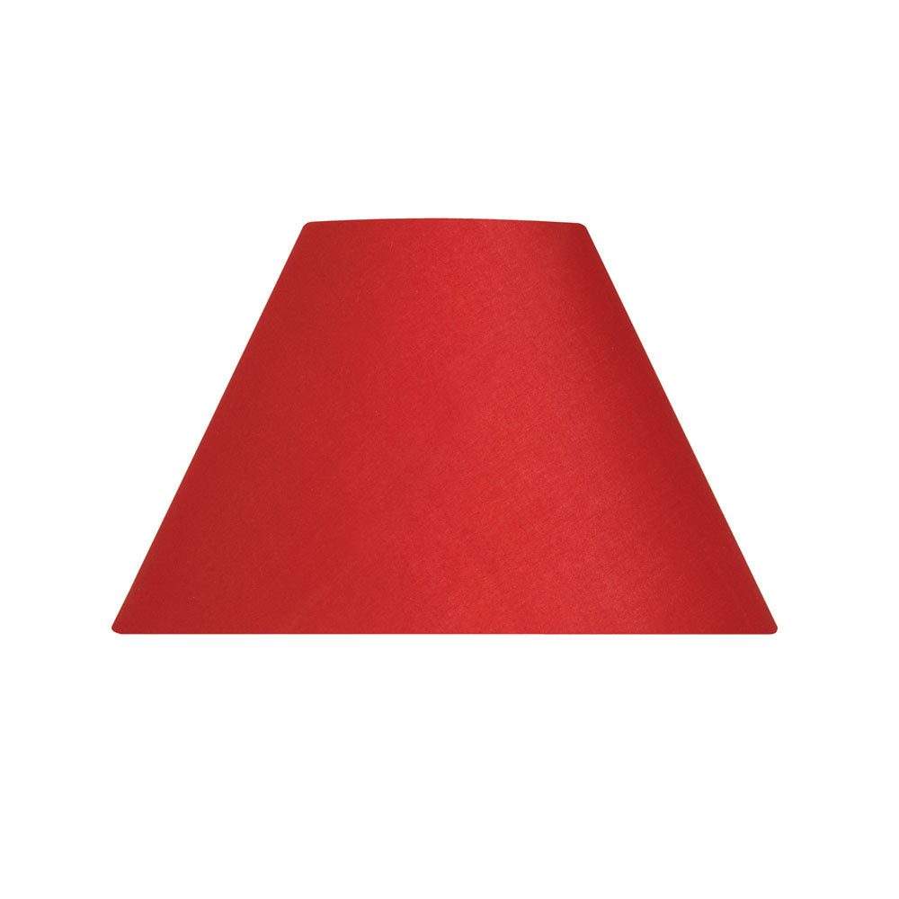 Oaks Lighting S501/12RD 12 Inch Red Cotton Coolie Shade