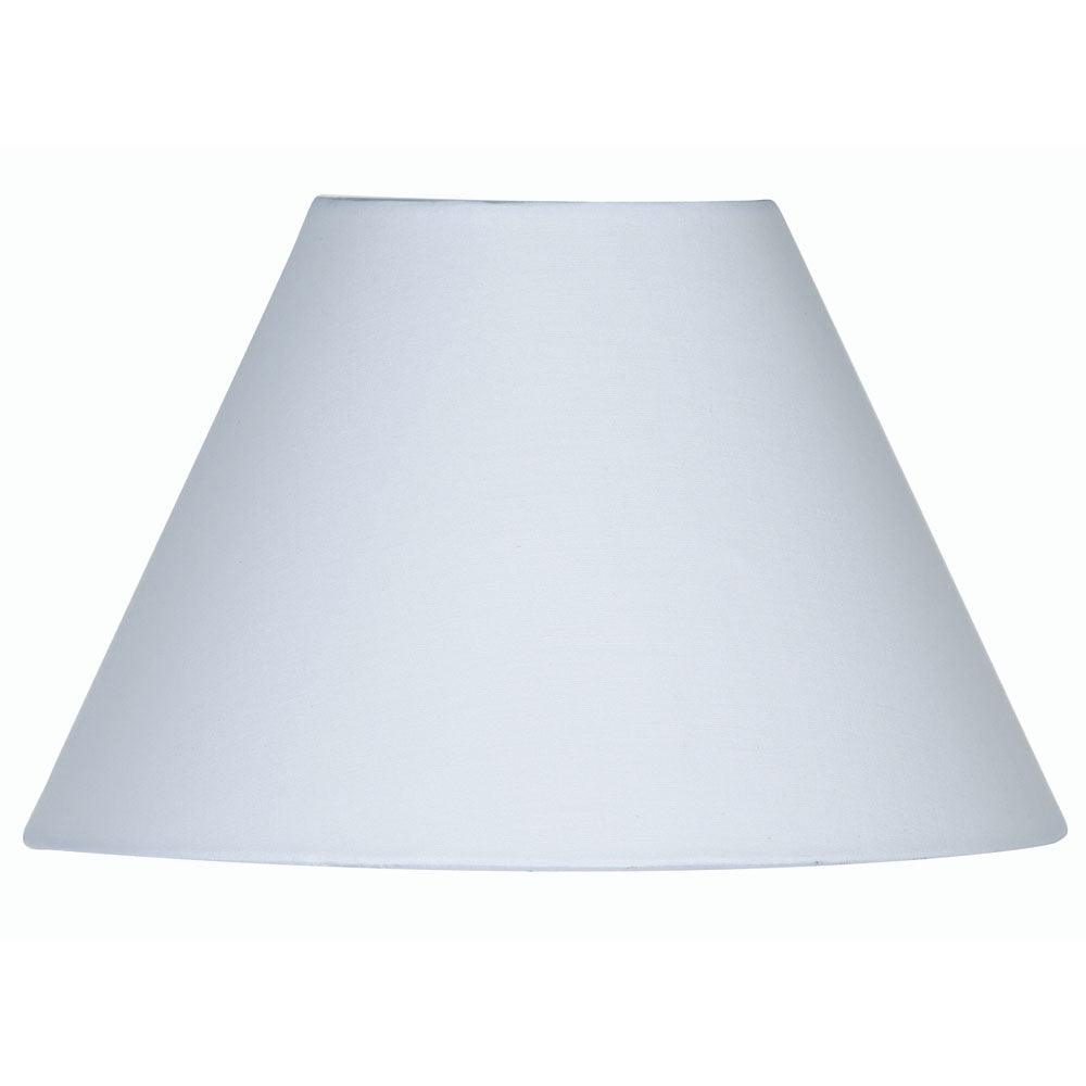 Oaks Lighting S501/8WH 8 Inch White Cotton Coolie Shade