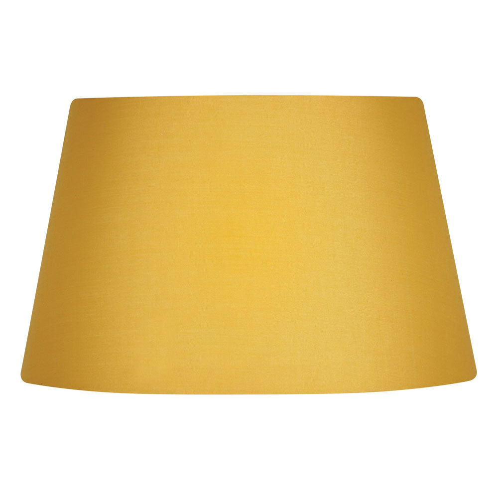 Oaks Lighting S901/14MS 14 Inch Mustard Cotton Drum Shade