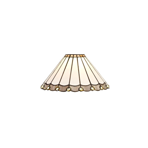 Regal Lighting SL-2045 Tiffany Easy Fit Uplighter Shade Cream And Grey With Clear Crystal 30cm