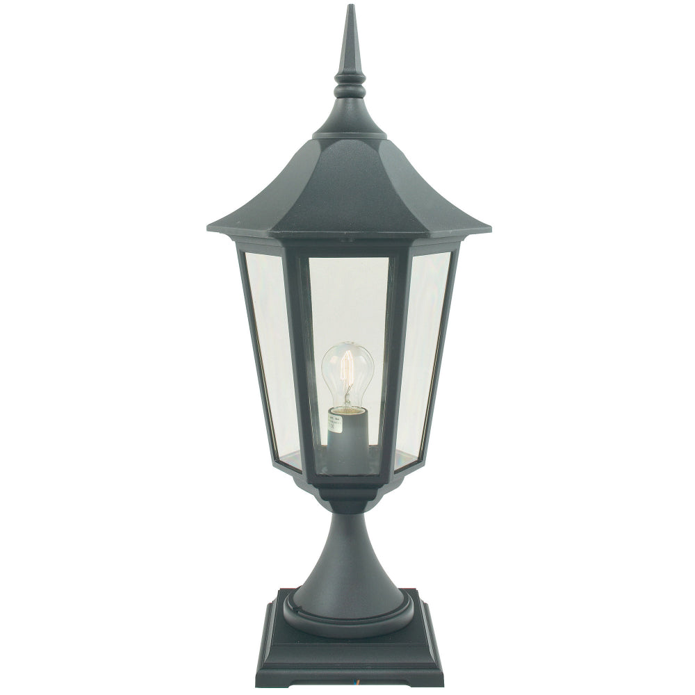 black outdoor wall light