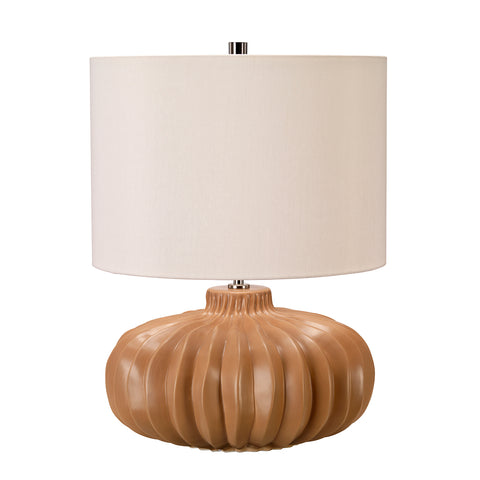 Elstead Lighting WOODSIDE-TL Woodside Single Light Table Lamp Complete With Ivory Faux Silk Shade