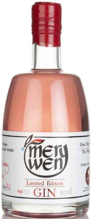 Merywen Welsh Strawberry & Rose Gin