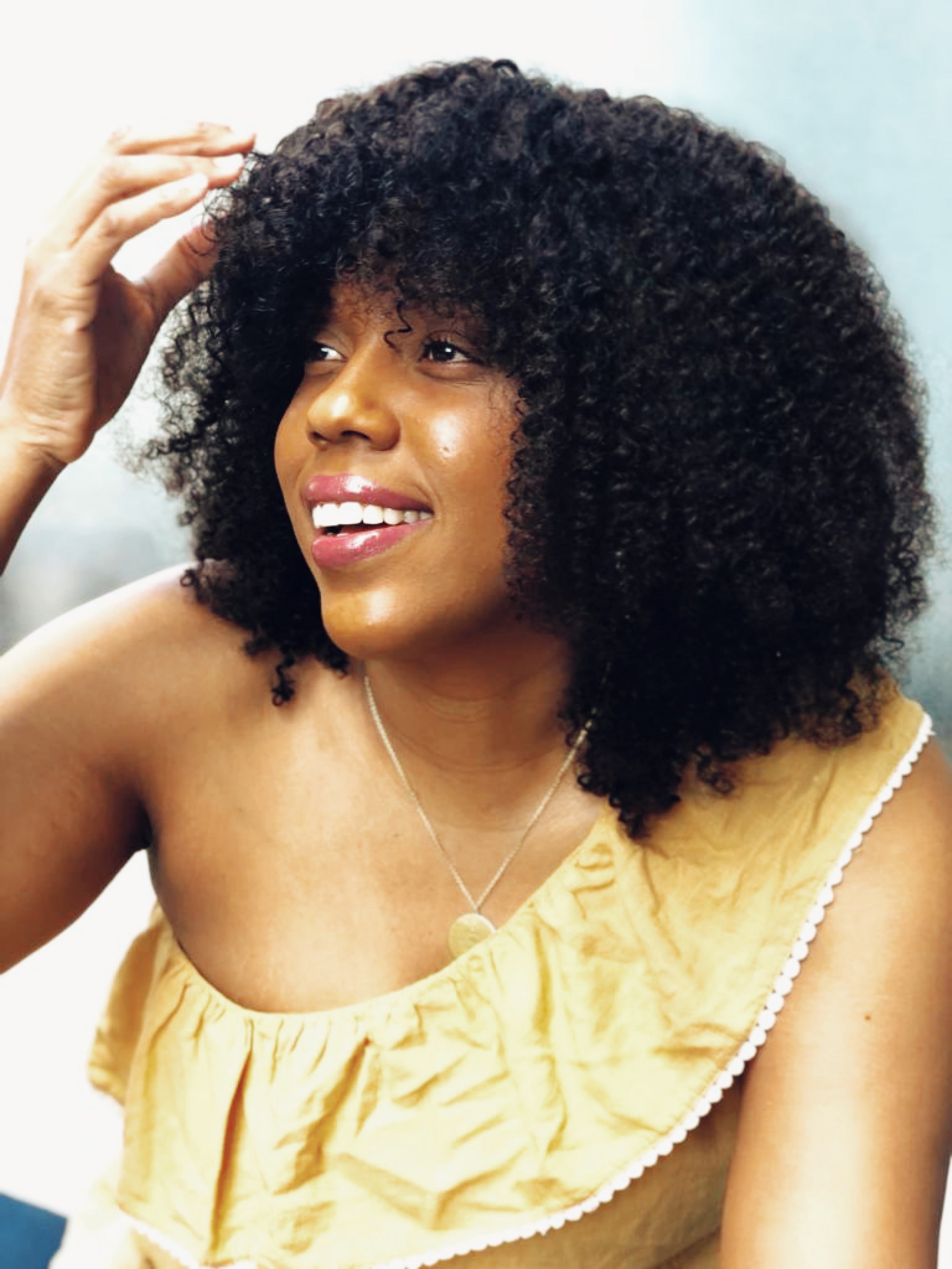 Naturalista Kinky Curly Hair Clip-On Bang