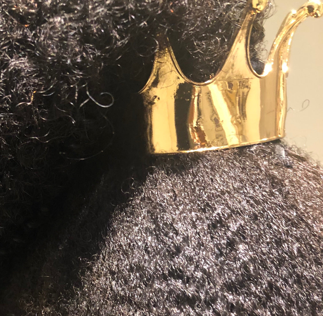The Black Girl Magic Crown Ponytail Clip (Two Sizes Available - Adult/ Kid Sized & Infant / Doll Sized)