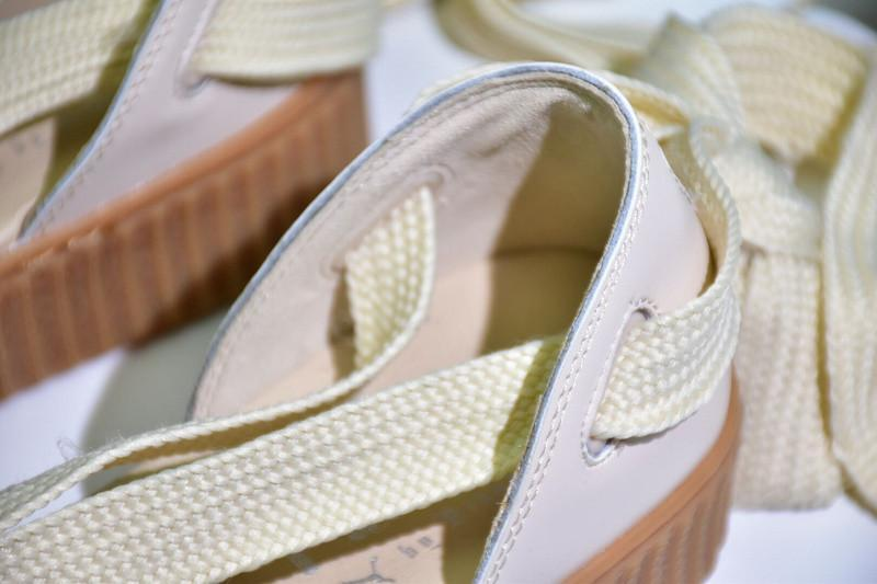 info for d539e 19298 Puma Fenty x Rihanna Bow Creeper Sandals 'Pink TintOatmeal ...