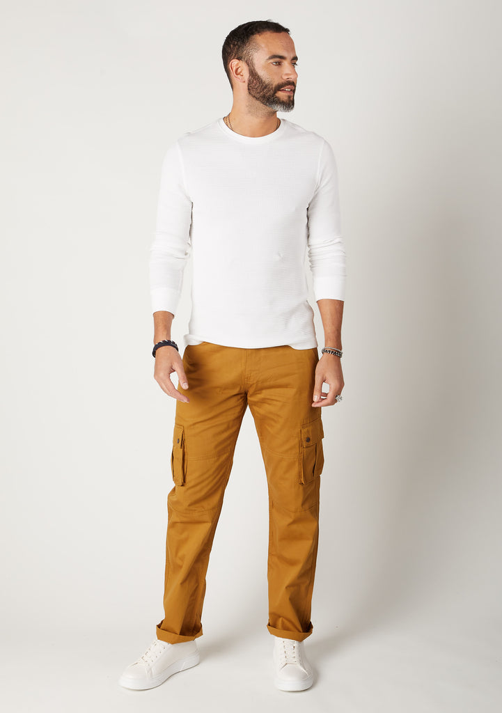 Firswood Pantalon Cargo Homme Coton Organique - Dull Gold
