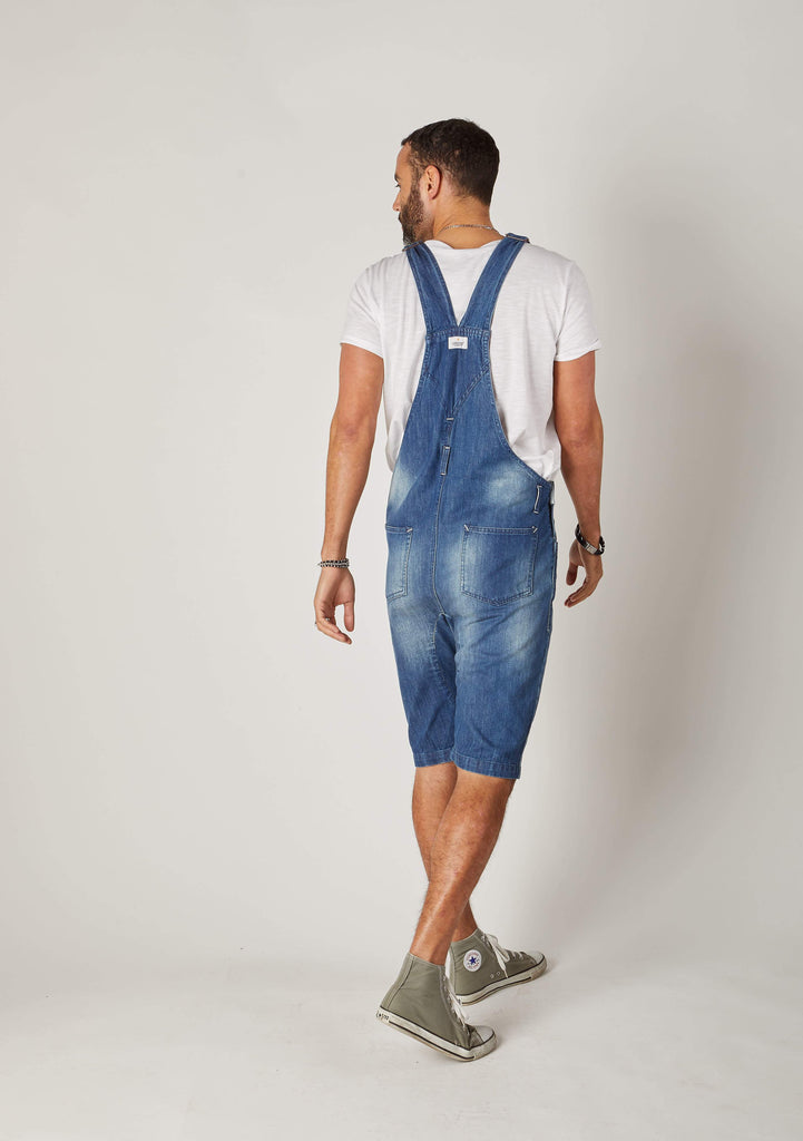 Jesse Salopette Short en Denim - Slim Fit