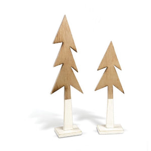 Wooden Dipped Pine Tree Figurine
