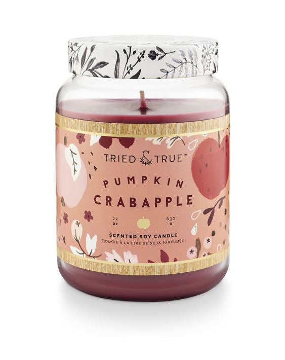 Tried & True Pumpkin Crabapple 22oz Candle