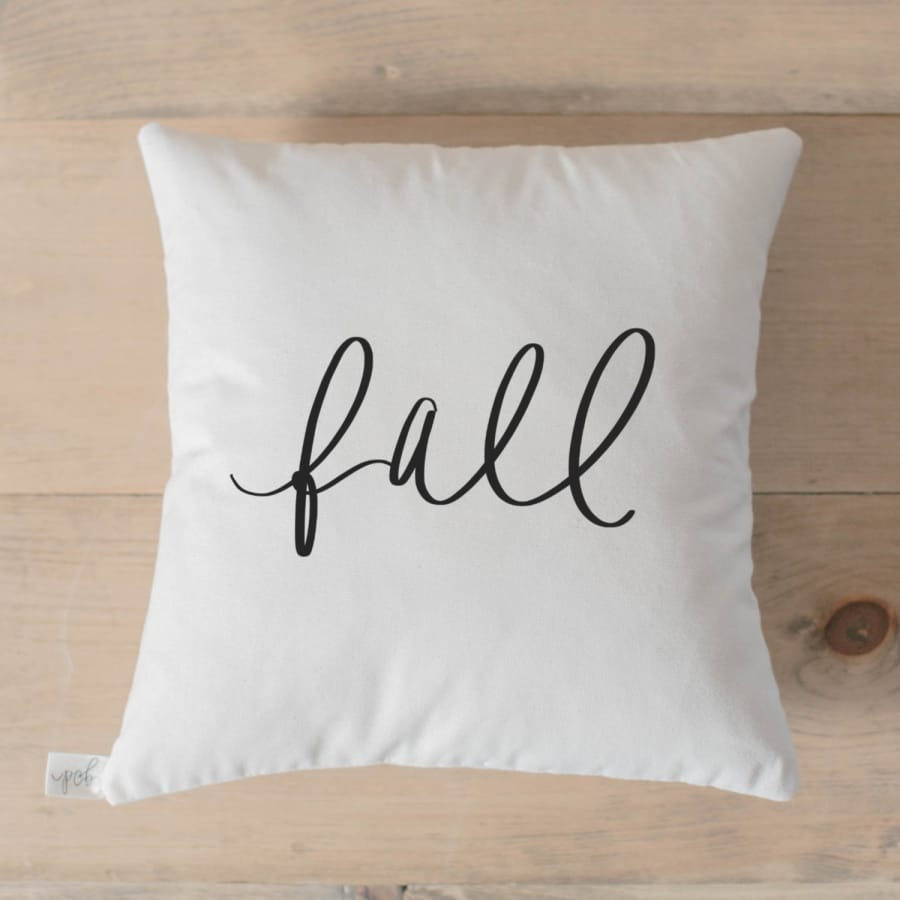 Fall Calligraphy Pillow