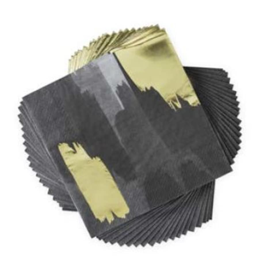Brushstroke Noir Dinner Napkins