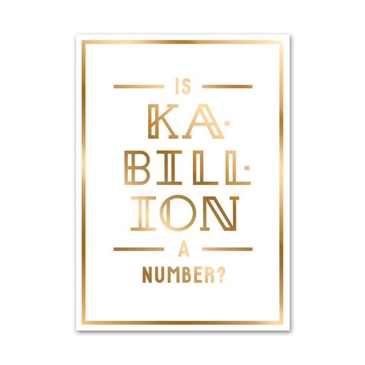 Is Kabillion a Number Greeting Card