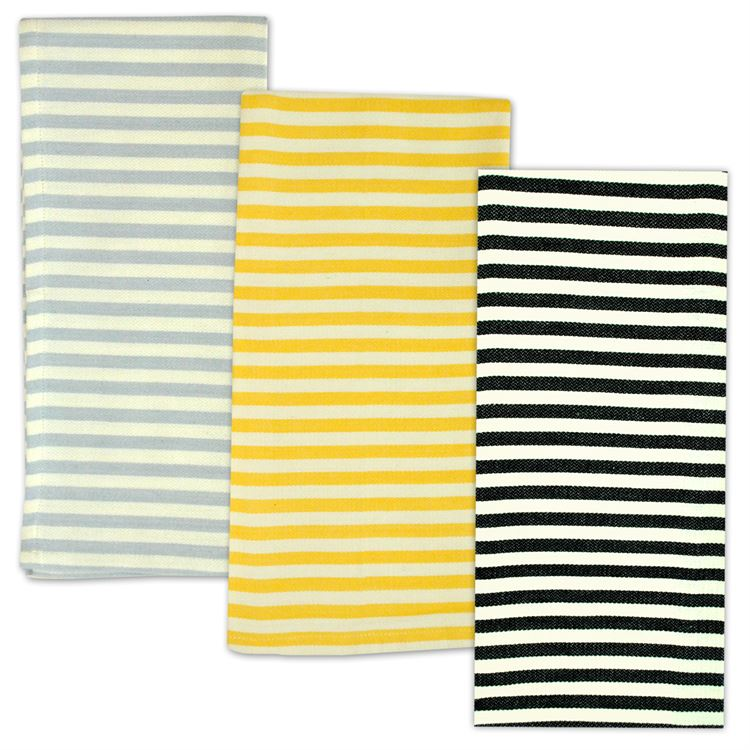 3 Pack Petite Striped Dish Towel