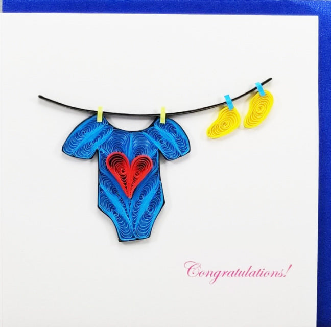 Hand Quilled Baby blue