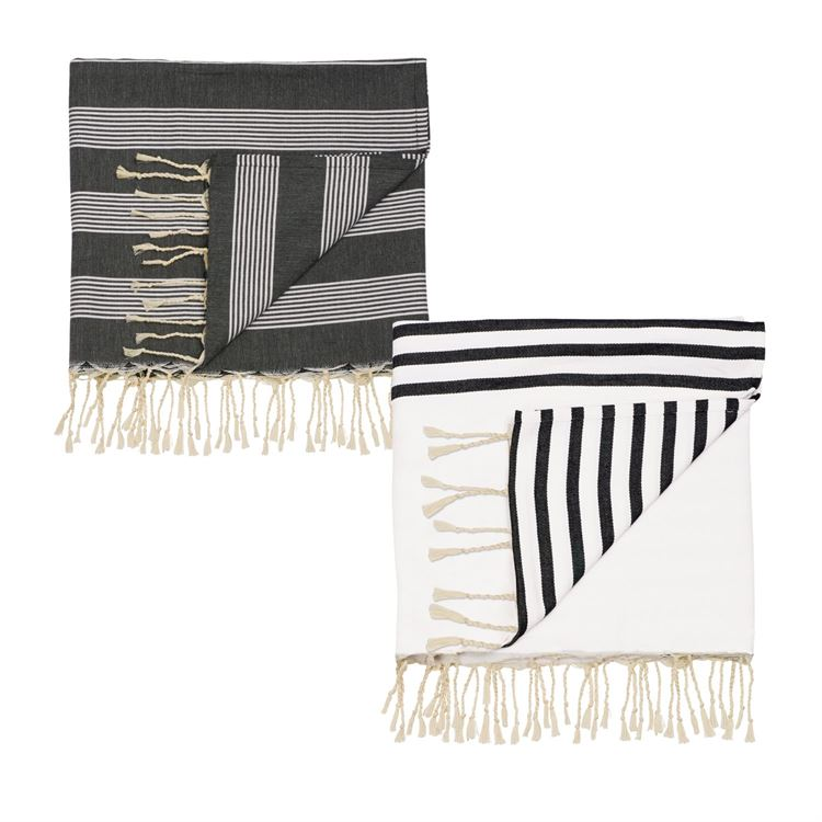 Black and White Stripes Throw