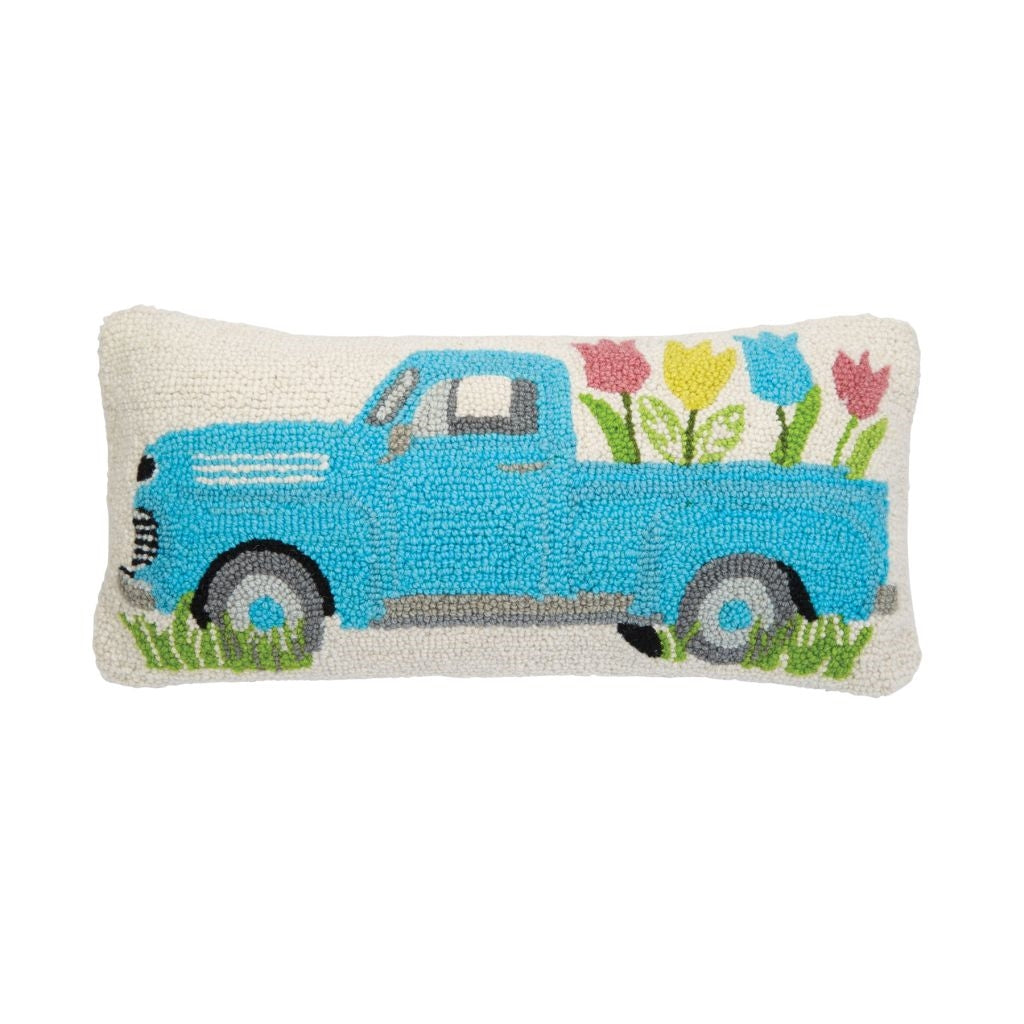 Blue Truck Hook Wool Pillow