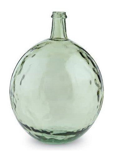 Dimpled Bulb Bottle Glass Vase