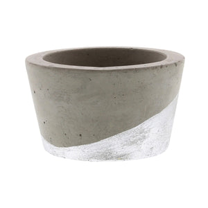 Cement Gold and Silver Tea Light Candle Holders