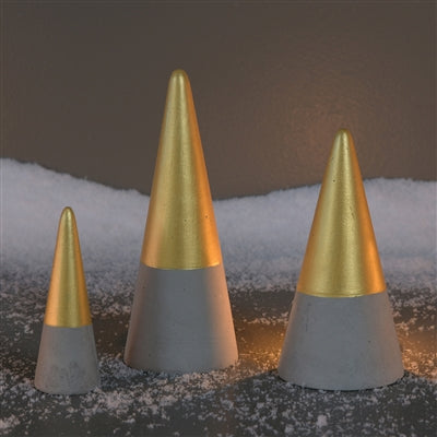 Cement Gold Dipped Christmas Tree