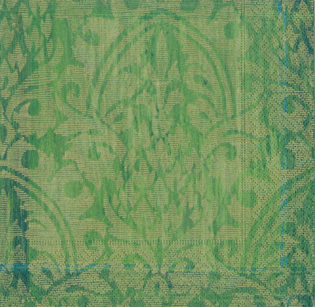 Emerald Damask Beverage Napkin