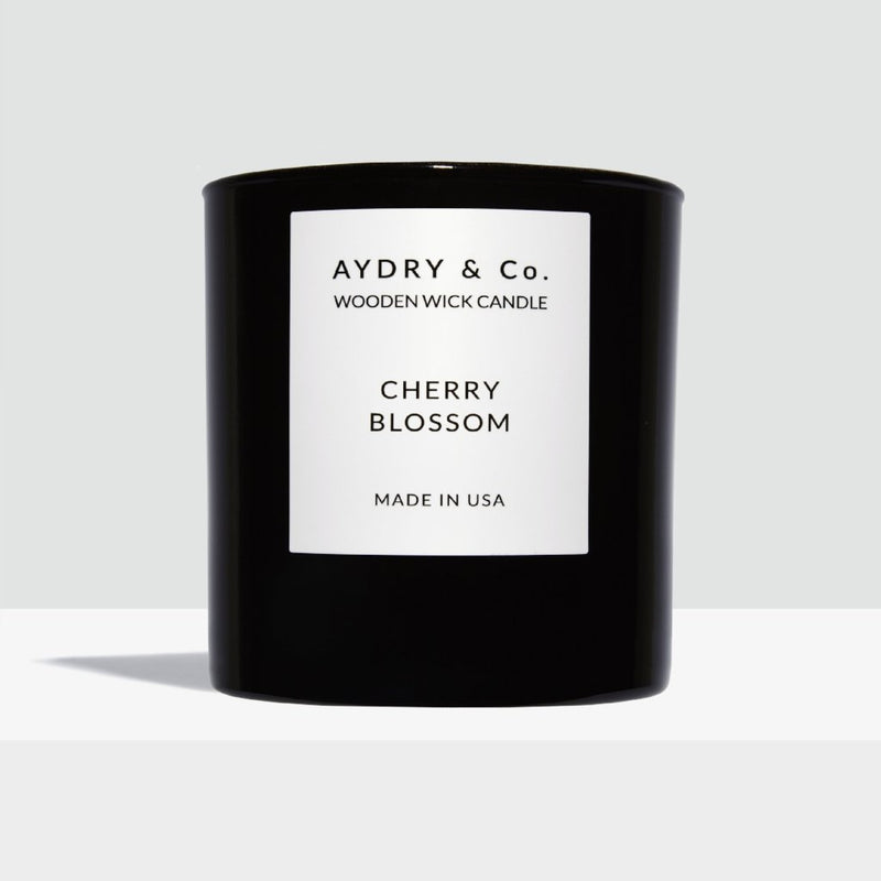 Aydry Cherry Blossom Wooden Wick Boxed Candle