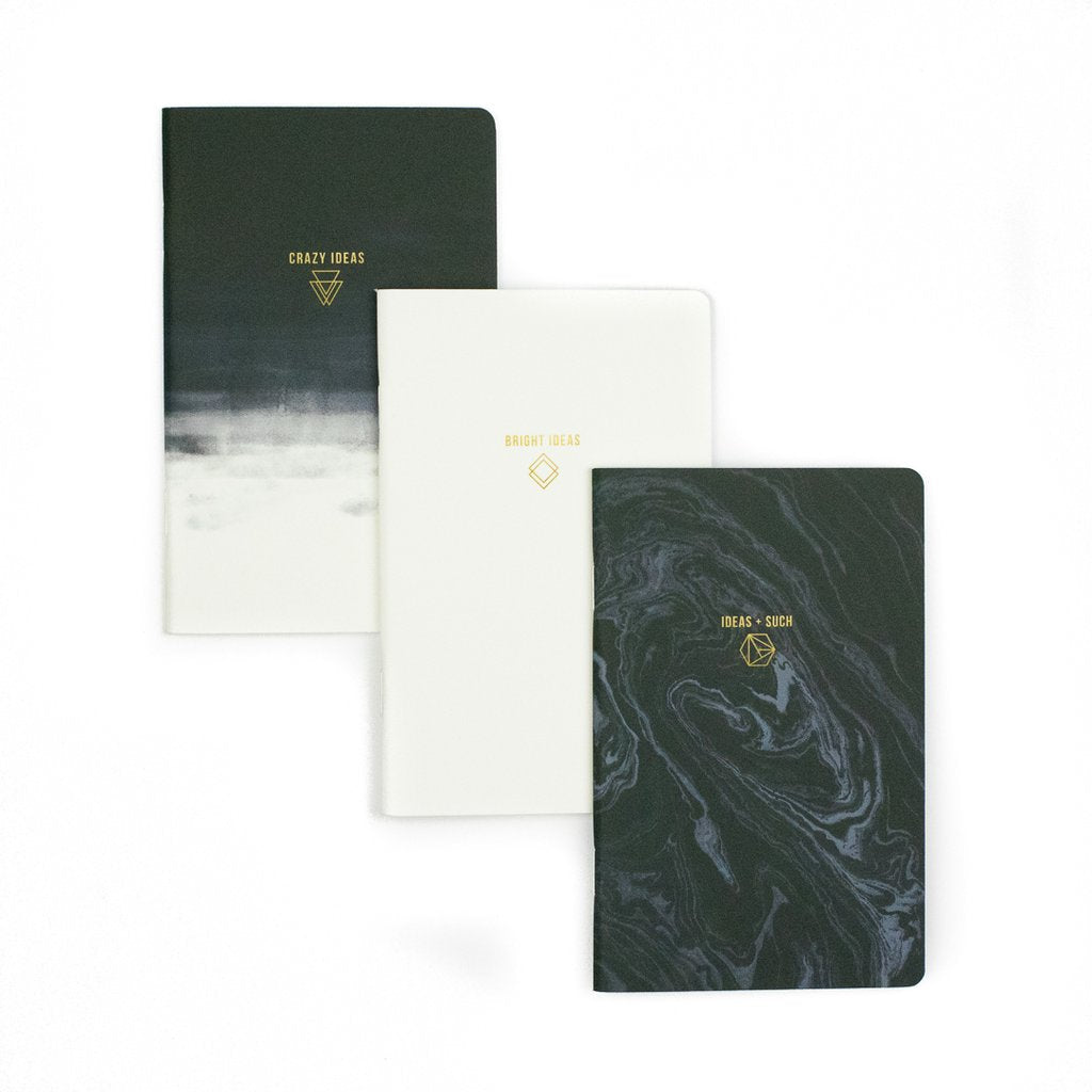 Ideas 3 Pack Small Notebooks