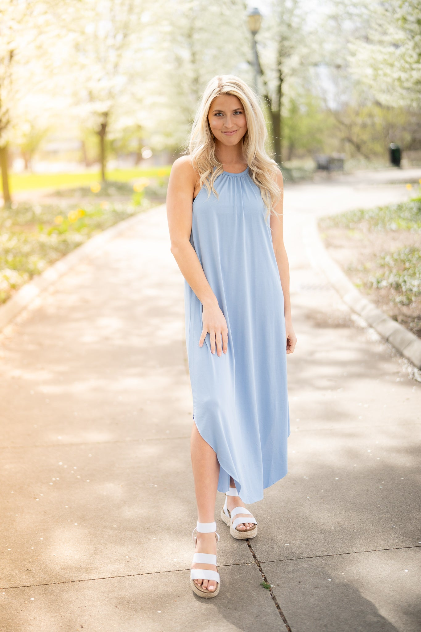 Jenna Blue Midi Dress