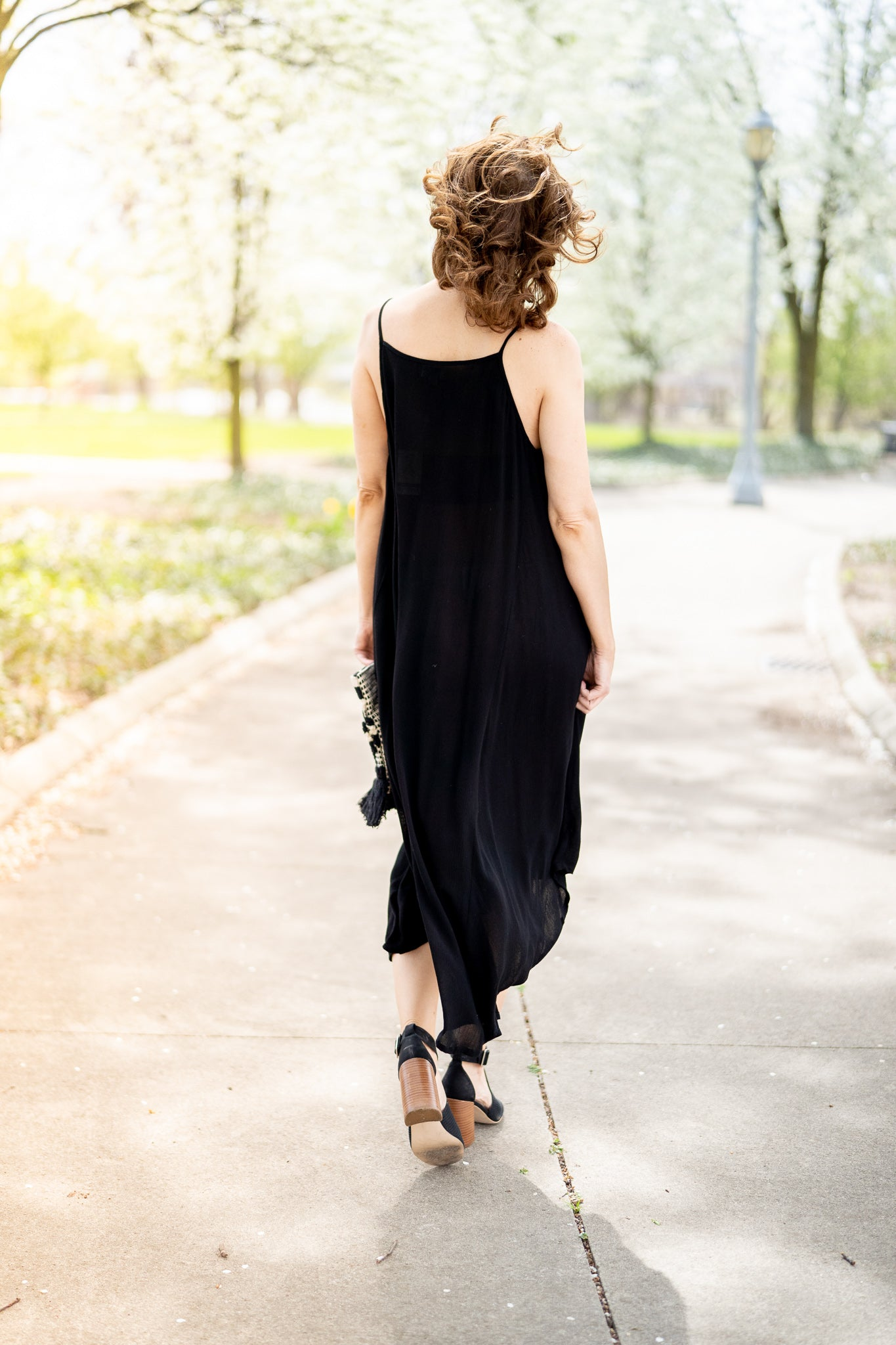 Michaela Black Maxi Dress