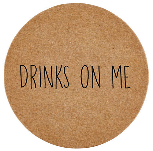 Drinks On Me Coaster Set / 8