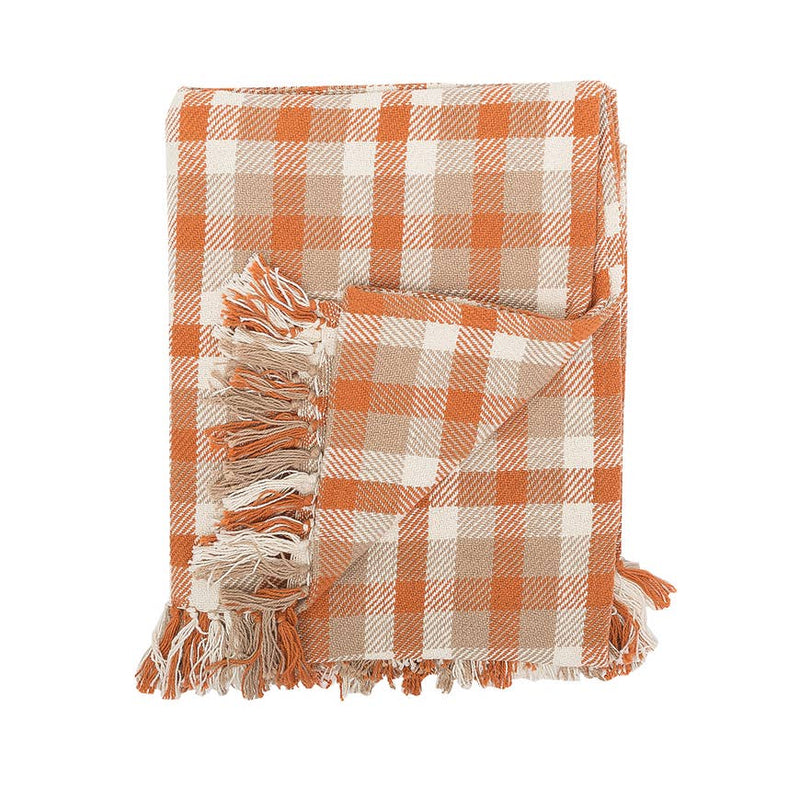 Dunmore Plaid woven Cotton Throw