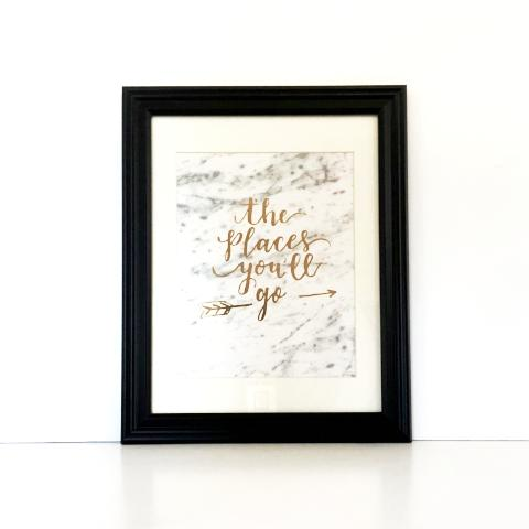 The Places You'll Go Framed Print
