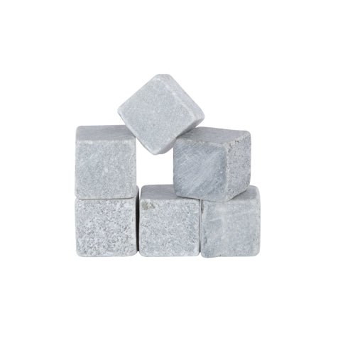 Glacier Rocks: Set of 6 Soapstone Cubes