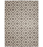 Grey and Ivory Area Rug
