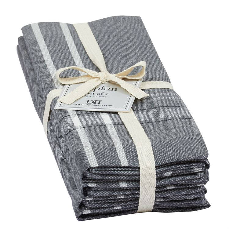 Grey French Chambray Napkins Set of 4