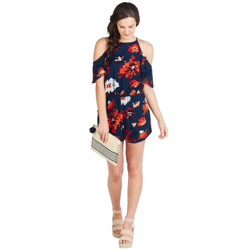 Hayes Navy Floral Romper - Medium