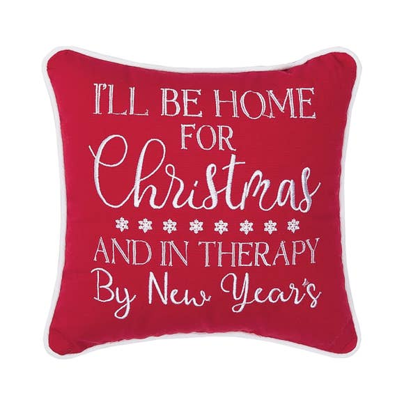 "I'll Be Home For Christmas 10"" Throw Pillow"