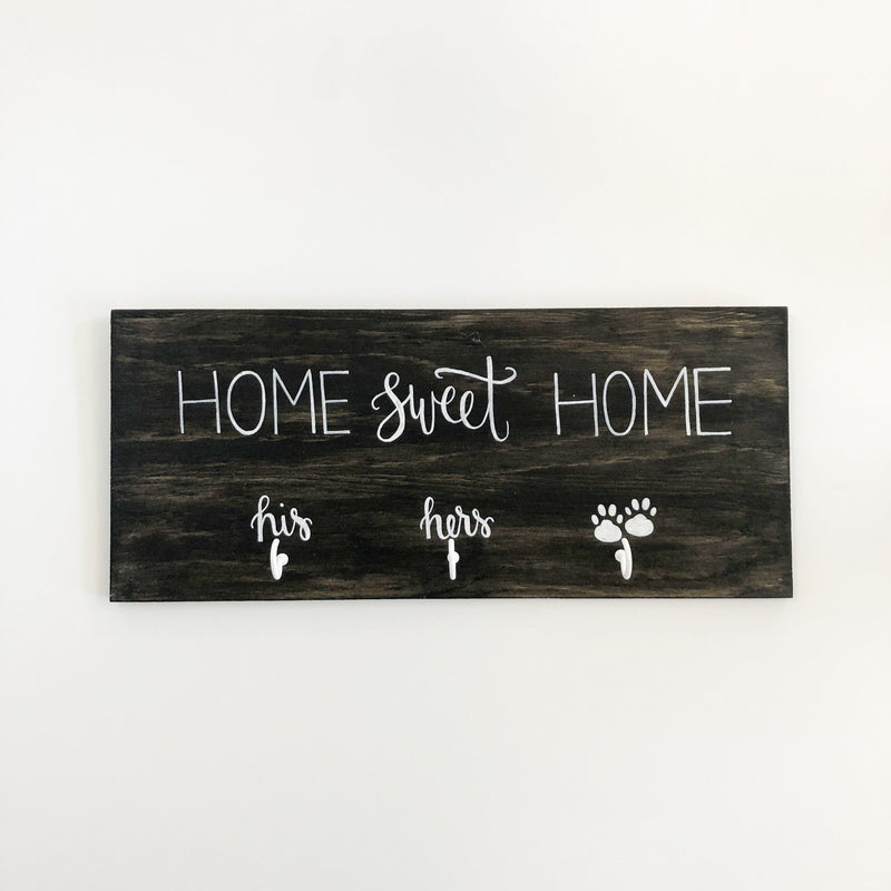 His Hers Paws Home Sweet Home Keychain Rack